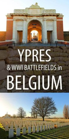 How to visit Ypres and the World War I battlefields in Belgium. Suggested day trip itinerary including Tyne Cot, Essex Farm war cemetery, trenches, Yser Tower and more. Europe Travel Tips, European Travel, Places To Travel, Travel Destinations, Travelling Europe, Overseas Travel, European Vacation, Travel Trip, Traveling