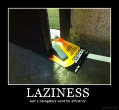 Hahahahaha! OMG- this made me laugh out loud...really loudly! That really IS lazy!