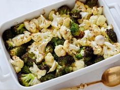 Roasted Cauliflower and Broccoli Recipe : Ellie Krieger : Food Network – FoodNet… - Delicious recipes Healthy Side Dishes, Vegetable Side Dishes, Side Dish Recipes, Easy Healthy Recipes, Healthy Cooking, Vegetarian Recipes, Healthy Eating, Healthy Meals, Healthy Sides