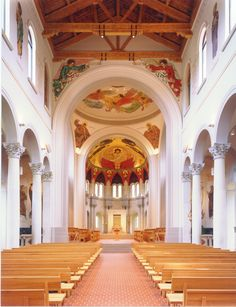 Saint Joseph Abbey and Seminary Sacred Architecture, Church Architecture, Benedictine Monks, Modern Church, Saint Joseph, Cathedral Church, Church Building, Place Of Worship, Cathedrals