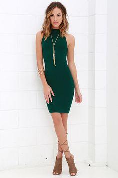 Figure Eight Dark Green Bodycon Dress at Lulus.com!