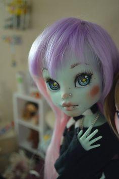 "Custom Monster High Frankie Stein 17in ""Frightfully tall"" Repaint"