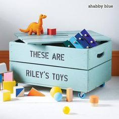 Personalised Toy Box Storage Wooden Crate
