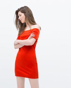 ZARA - WOMAN - OFF-SHOULDER DRESS