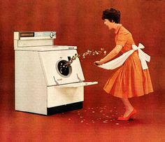 …and it pays off every washday.  Detail from 1962 Westinghouse washer ad.