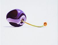Cherry, 40 x 40 cm, oil on canvas Still Life, Oil On Canvas, Cherry, Office Supplies, Contemporary, Painting, Painted Canvas, Painting Art, Paintings
