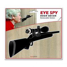 sticker_puerta_eye_spy_escopeta_luckies_cómodo_tienda_fábrica_diseño