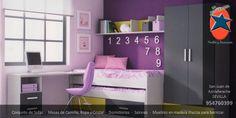 #Dormitorio #Juvenil en #Sevilla. #Muebles y #Decoración La Ponderosa en San Juan de Aznalfarache, #Andalucía #Rosa