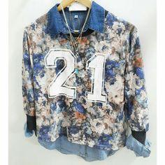 Camisa + Sweater estampada + Collar #AW16