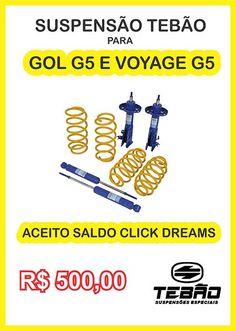 IMPERDIVEL !!! SUSPENSÃO TEBÃO PARA GOL G5 E VOYAGE G5 COM 20 DIAS DE USO !!! *** ACEITO SALDO CLICK DREAMS *** WHATSAPP 14998352801 (14) 99835-2801