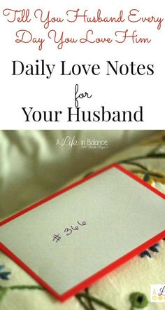 Daily Love Notes for Your Husband