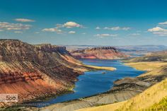 Flaming Gorge by neupeters  Flaming Gorge Green River USA Vernal clouds lake mountain rock Flaming Gorge neupeters