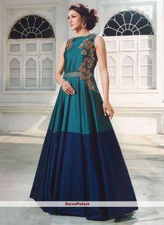 Fascinating Silk Designer Gown