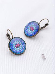 Shop Blue Flower Pattern Hoop Earrings at ROMWE, discover more fashion styles online. Romwe, Jewelry Accessories, Women Jewelry, Flower Patterns, Blue Flowers, Studs, Chokers, Hoop Earrings, Pendant Necklace