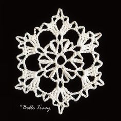 365 Crochet Snowflakes By Belle Tracy Free Crochet Snowflake Patterns, Crochet Stars, Christmas Crochet Patterns, Holiday Crochet, Crochet Snowflakes, Thread Crochet, Crochet Motif, Crochet Crafts, Crochet Doilies