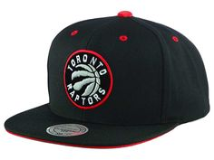 Toronto Raptors Mitchell and Ness NBA Solid Velour Logo Snapback Cap