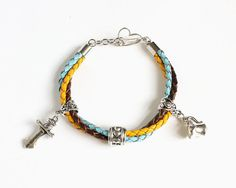 Rumbelle Leather Bracelet OUAT by CissyPixie on Etsy