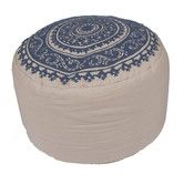 Found it at Wayfair - Inspired Floral Cotton Pouf Ottoman