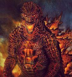 No photo description available. Imagenes De Godzilla, Imagenes De Goku, Monstruos Gigantes, Criaturas Míticas, Godzilla Pelicula, Dinosaurios Imagenes, Ilustración De Dragón, Diseños De Tatuaje Japonés, Posters Peliculas