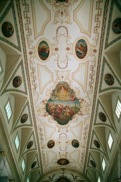 Ceiling of the St. Louis Cathedral in New Orleans
