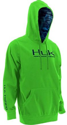 Marolina Outdoor H1300007NGNXXXL Huk Kryptek Performance Hoodie, Neon Green, 3X-Large  http://fishingrodsreelsandgear.com/product/marolina-outdoor-h1300007ngnxxxl-huk-kryptek-performance-hoodie-neon-green-3x-large/  Water-resistant Midweight wind resistant fleece Zip Napoleon Pocket