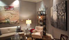 A mock residential setting in #Atlanta #Sothebys #office #encaustic #painting