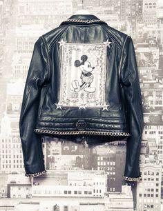 Phillip Plein - Mickey Mouse leather biker. Love
