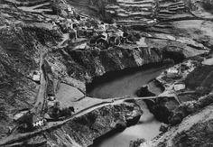 Imagen del antiguo pueblo de Salime en 1940 antes de que la construcción del Embalse de Grandas de Salime lo cubriera con sus aguas