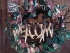 Deer Antler Wreath