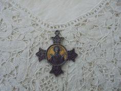 Antique religious pendant by Nkempantiques on Etsy