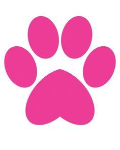 Puppy paw print