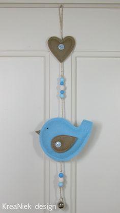 vogelhanger vilt www.kreaniekdesign.blogspot.nl