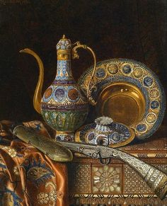 Max Schödl Still Life with Oriental Antiques 1886