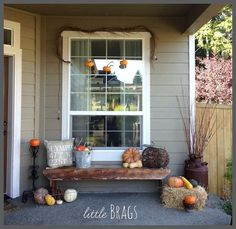 A Fall Front Porch