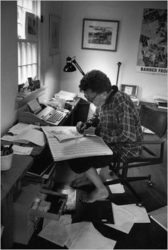 Kurt Vonnegut at work - who said it's easy to be a writer? You can be very creative and your writing work be very hard at the same time. The difference from other hard works is that your inspiration makes you don't experience your writing as a hard work, but rather as an incredible travel in another world, that one your imagination is creating.