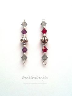 Bookmark Add-on - Bookmark Dangle - Crystal and Bead Bookmark Add-on - Epsteam by BrattonCraft on Etsy