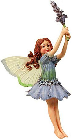 The Lavender Flower Fairy, the charm of Cicely Mary Barker's Flower Fairies has been brought to life in these precious figurines.