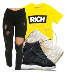 A fashion look from august 2016 by featuring michael michael Lit Outfits, Cute Swag Outfits, Jordan Outfits, Teenage Outfits, Dope Outfits, Outfits For Teens, Trendy Outfits, Junior Outfits, School Outfits