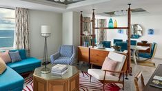 Located near the Design District, The Confidante Miami Beach offers 363 luxe guestrooms and suites, featuring midcentury modern-inspired furnishings and ocean views. Penthouse Suite, Miami Beach, Midcentury Modern, Places To Go, Mid Century, Ocean Views, Living Room, Rooms, Inspiration