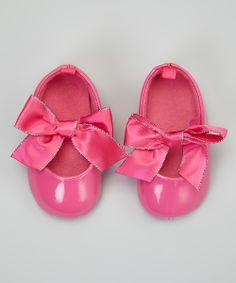Hot Pink Sparkle Bow Ballet Flat