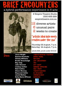 brief encounters toowoomba poster flyer