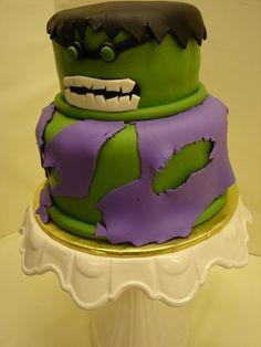 Incredible Hulk Birthday Cake by JMC Custom Cakes, via Flickr