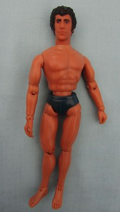 "Starsky doll (Paul Michael Glaser), from the 1970s crime busting team Starsky & Hutch! He measures approx 7.5"" He is fully jointed and all joints in good working order. He comes with clothes as pictured but I doubt they are original as the trousers are too small for him, but as he displays well in them, I'm throwing the outfit in with the doll! He has Mego on his neck and the markings on his back confirm he is official 1974 merchandise (pat pending Hong Kong)."