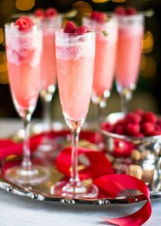 Decadent Raspberry Cream Mimosas for a 30th Birthday Party
