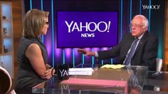 """""""Katie Couric: """"How do you compete when Senator Clinton is saying we're going to raise $2 billion?"""" Bernie Sanders: """"What you're really saying as I hear it, can any candidate who is not tied in with the billionaires, can they run for office anymore?"""""""""""