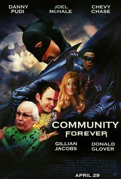 Community vs. Batman Forever:  Six Seasons And a Batman Movie!