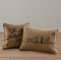 Dog Prints Pillow Covers | Decorative Pillows | Restoration Hardware Baby & Child