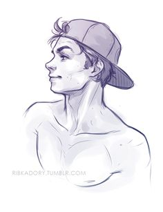 quick sketch of Ben at the end of work day (: i think he likes baseball hats or it could be Dylan O'Brien xD