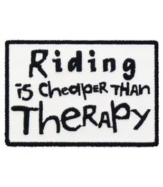 Riding Is Cheaper Than Therapy, Biker Patch