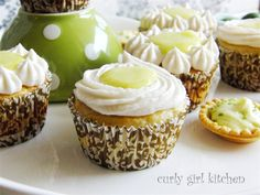 Curly Girl Kitchen: Key Lime Pie Cupcakes and Key Lime Cream Cheese Tartlets